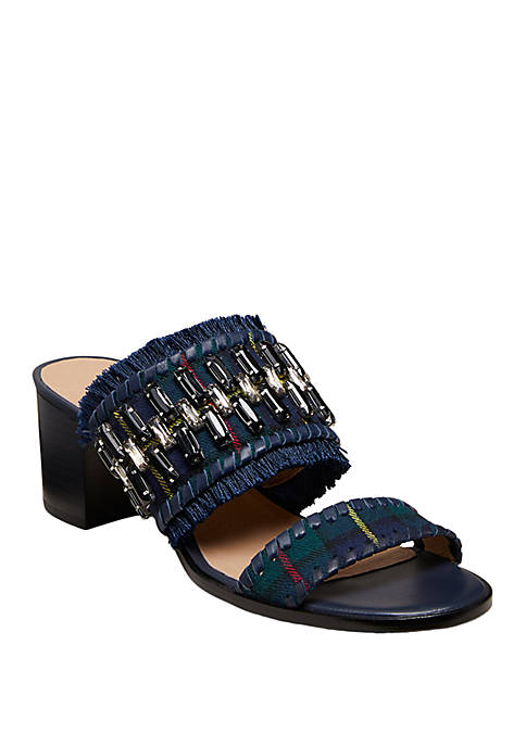 Beatrix Jeweled Heel Sandals