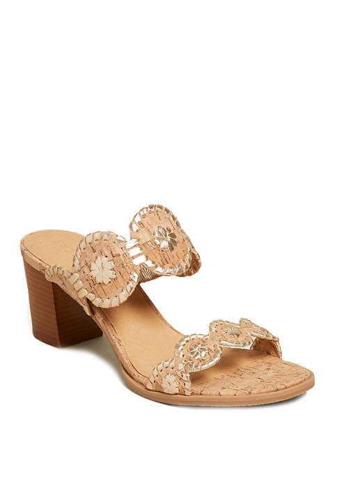 Jack Rogers Lauren Mid Heel Sandals