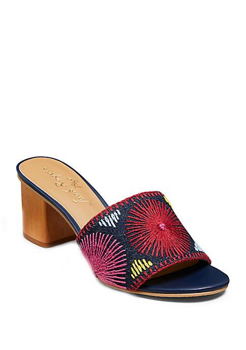 Bettina Embroidered Mid Heels