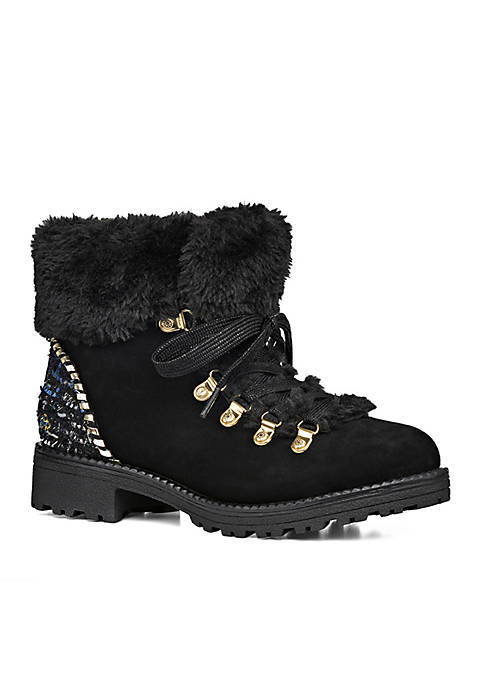 Jack Rogers Charlie Mixed Media Shearling Boot