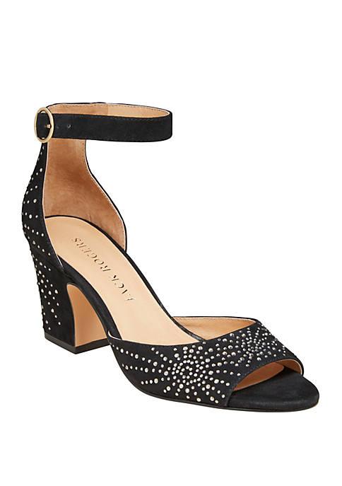 Maxine Embellished Suede Heel Sandals