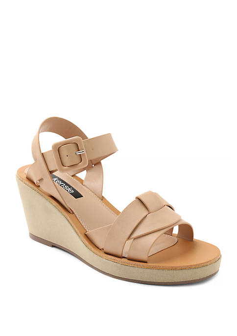 Visia Woven Wedge Sandals