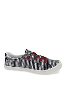 Dallas Lace up Sneakers with Houndstooth