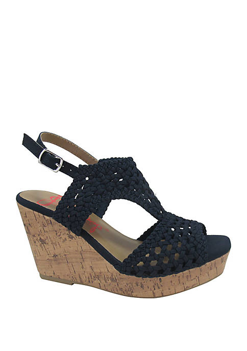 Jellypop Alexia Woven Wedge Sandals