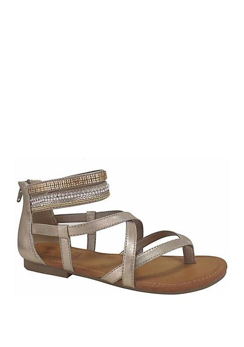 Levine Strappy Flat Sandals