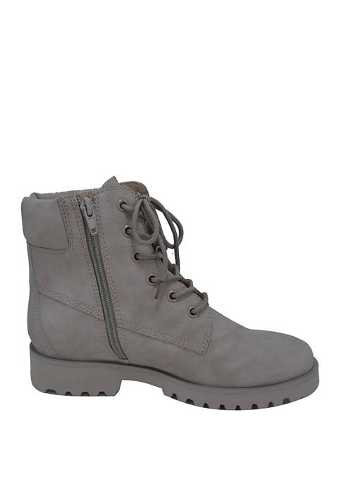 Heather Lace Up Booties