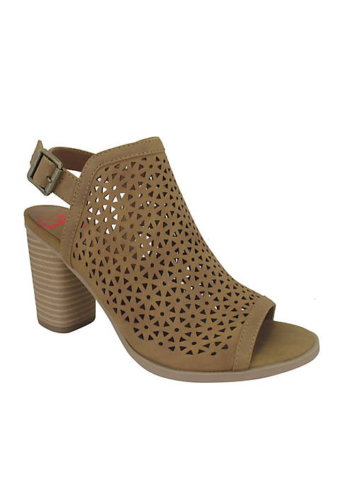 Jellypop Naomi Perforated Block Heel