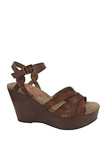 Jellypop Jelissa Wood Wedge Sandals