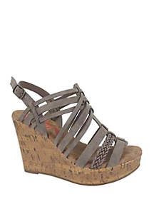 Jellypop Annie Cork Wedge Sandals
