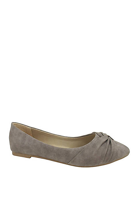 Jellypop Jacquee Knotted Pointed Toe Flats