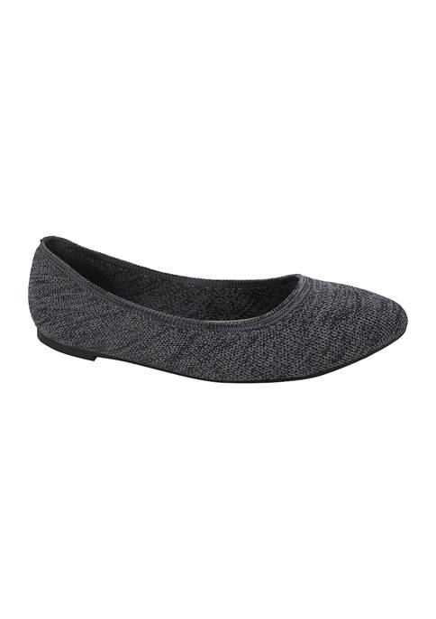 Champs Pointed Knitted Flats