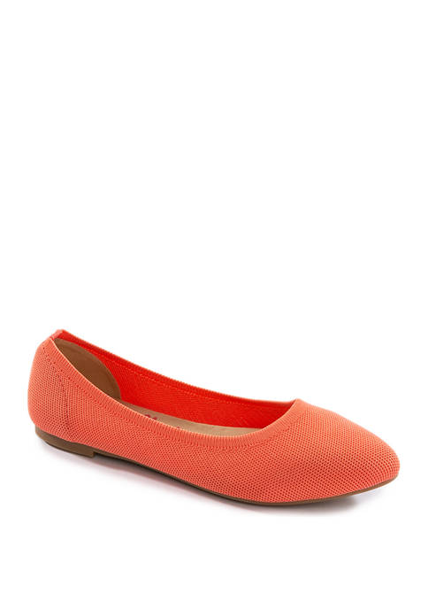 Jellypop Champs Pointed Knit Flats