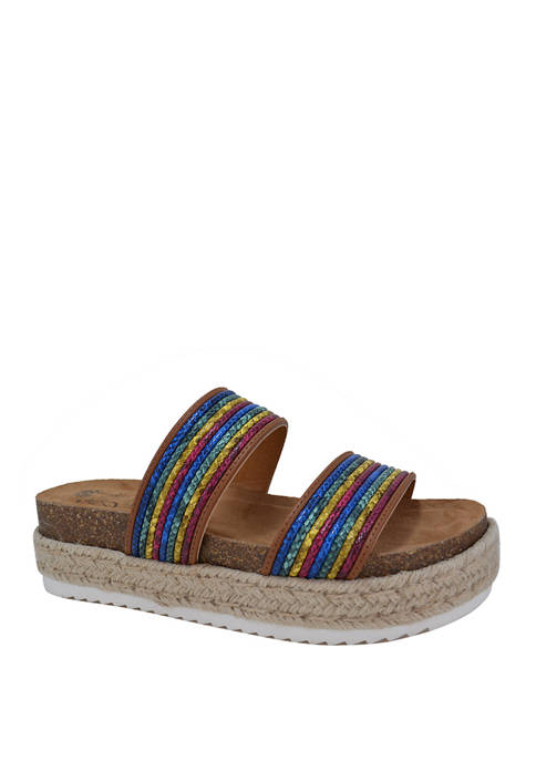 Jellypop Temecula Flatform Espadrille Sandals