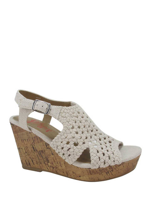 Jellypop Arial Woven Wedge Sandals