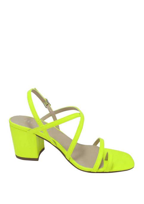 Jellypop Wish Square Toe Strappy Block Heel Sandals