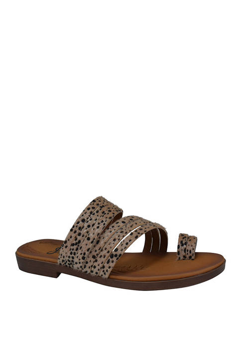 Jellypop Cayman Toe Loop Flat Sandals
