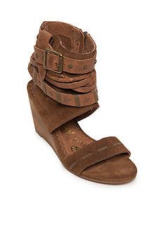 Naughty Monkey Lasalle Ankle Wrap Wedges