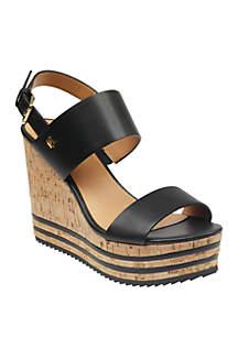 Tommy Hilfiger Briley Cork Wedge Sandal