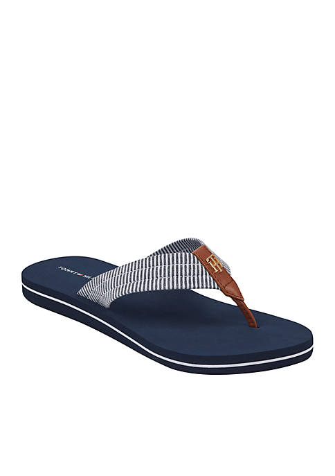 Carsun Seersucker Flip Flops