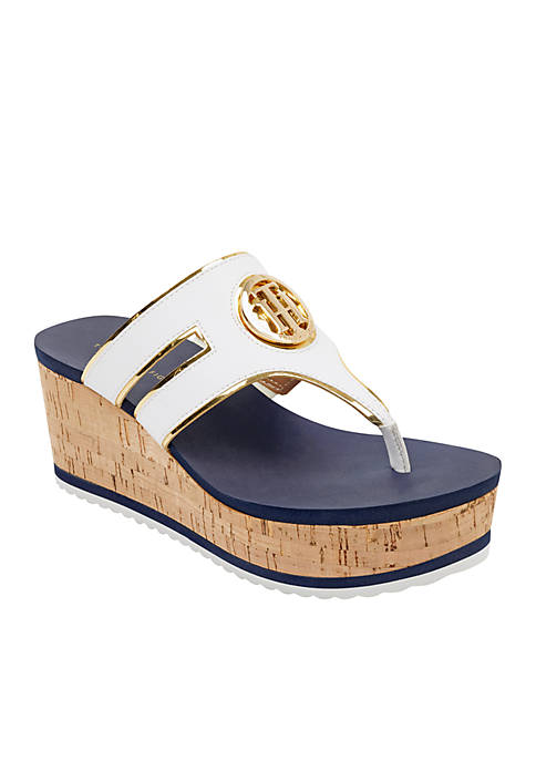 Tommy Hilfiger Galley Wedge Thong Sandal