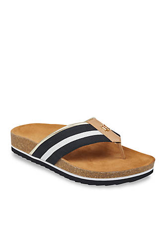 Tommy Hilfiger Giulio Footbed Thong Sandals 88R33Yz
