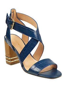 b1a95674e7 Tommy Hilfiger Sadah Stacked Heel Sandals ...