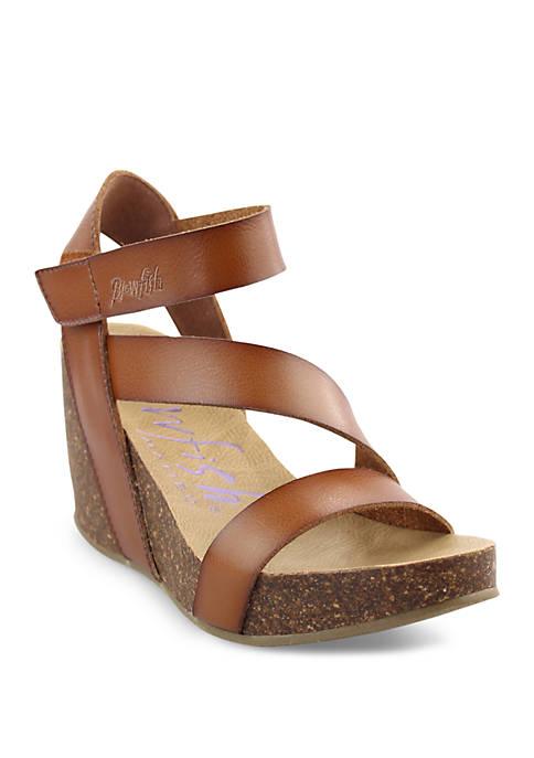 Hapuku Cork Wedge Sandals