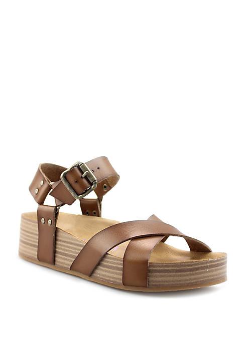 Blowfish Makara Russet Flatform Sandals