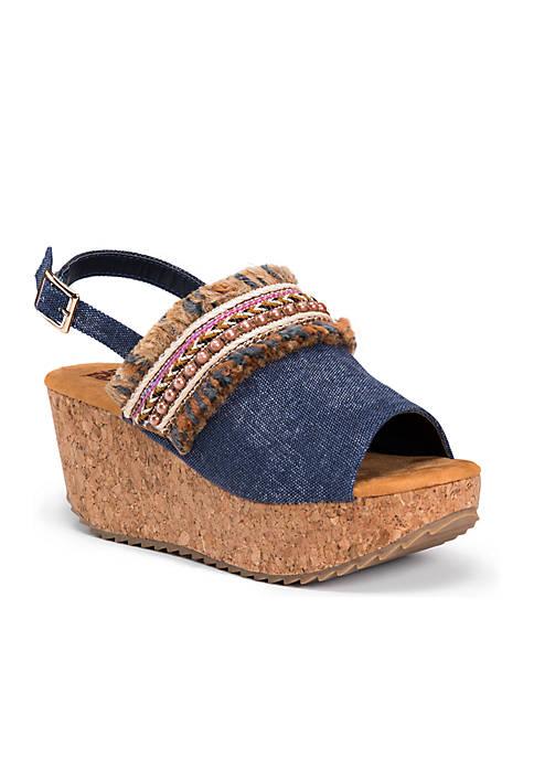 MUK LUKS® Marion Wedge Sandal