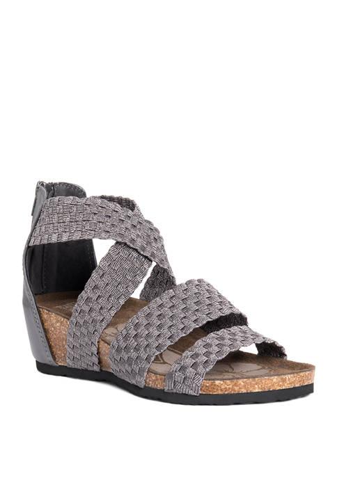 MUK LUKS® Elle Wedge Sandals