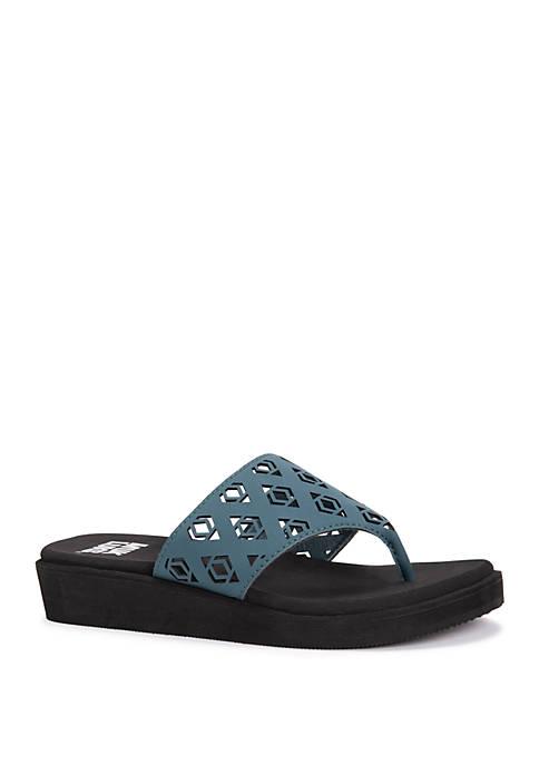 MUK LUKS® Melanie Wedge Sandals