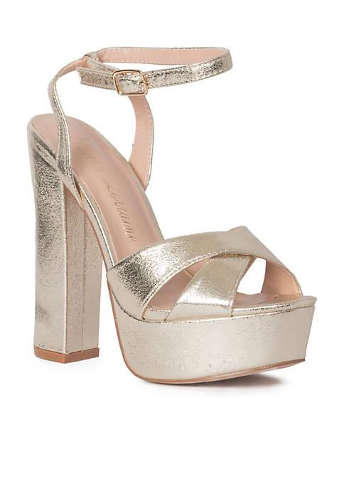 Lauren Lorraine Carla Platform Ankle Strap Heel