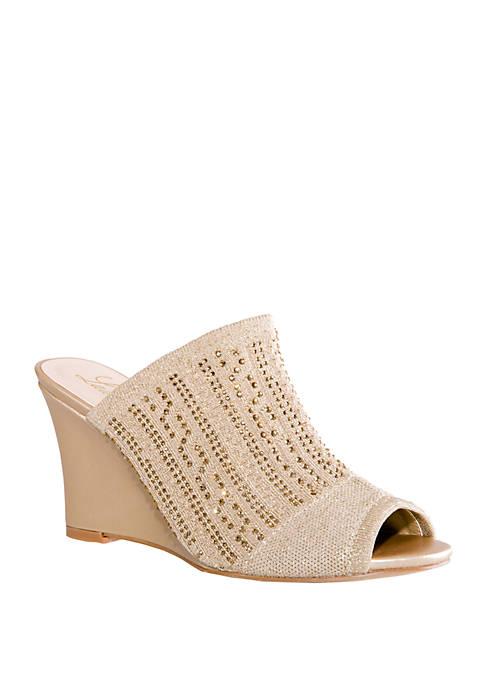 Lauren Lorraine Martha Slip On Wedge Sandals