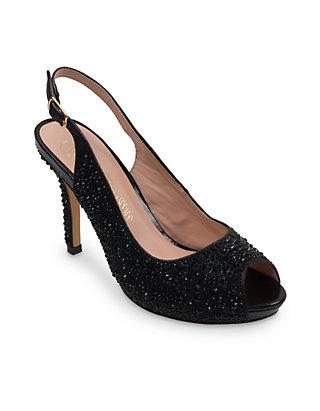 bcfb8527e5 Lauren Lorraine Peep Toe Low Platform Sling Heel | belk
