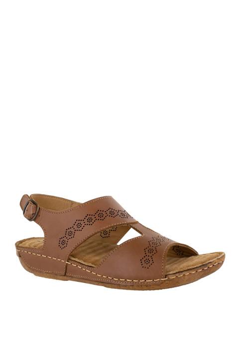 Easy Street Sloane Comfort Leather Sandals
