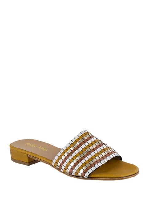 Bella-Vita Eli Italy Woven Slide Sandals