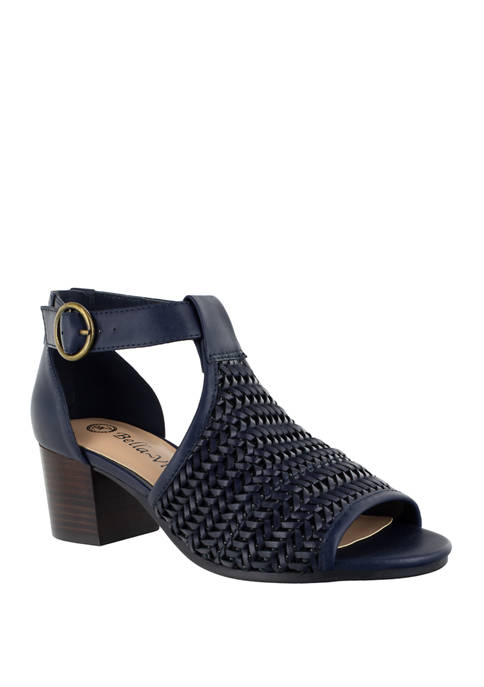 Bella-Vita Ripley 2 Woven Block Heel Sandals