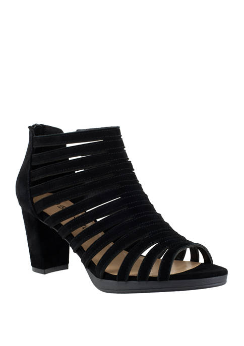 Bella-Vita Maise Block Heel Caged Sandals