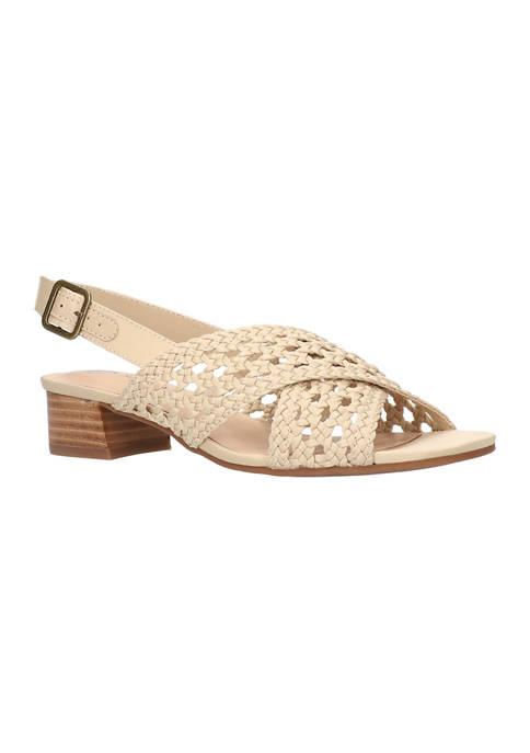 Bella-Vita Zahara Block Heel Slingback Sandals