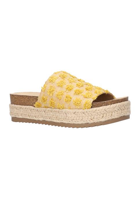 Bella-Vita Satara Platform Slide Sandals