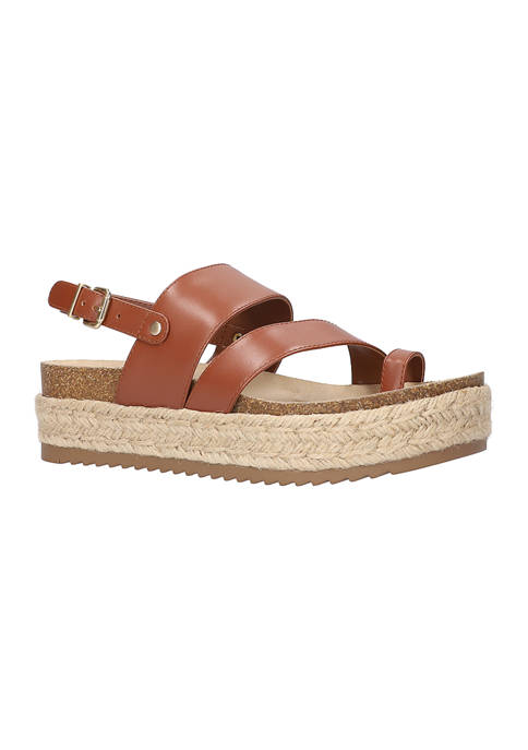 Bella-Vita Rosita Slingback Platform Sandals