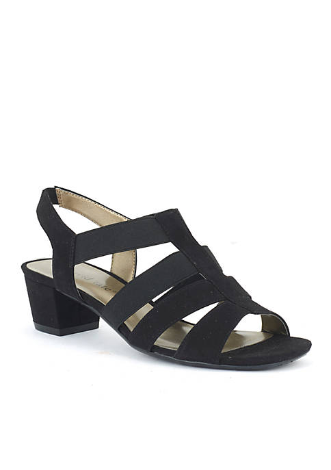 David Tate Delight Two Band Heeled Sandal