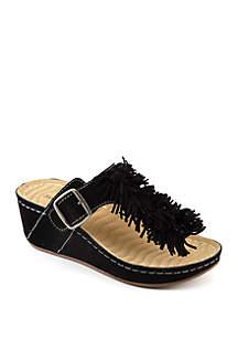 Festive Wedge Sandals