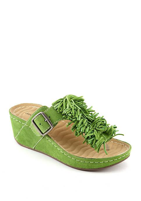 David Tate Festive Wedge Sandals