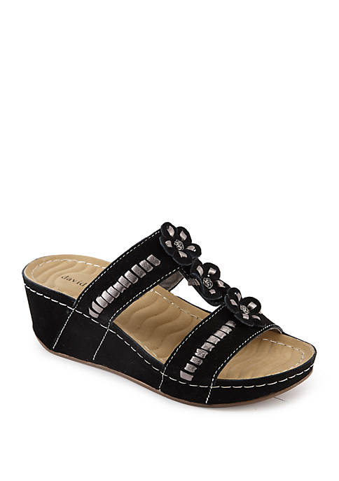 David Tate Myrna Wedge Sandals