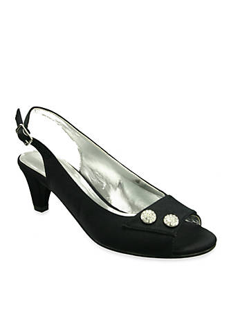 David Tate Party Peep-Toe Slingback Pump - Available in Extended Sizes - Online Only t83jZ8