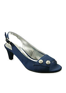 Party Peep-Toe Slingback Pump - Available in Extended Sizes - Online Only