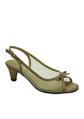 David Tate Prom Peep-Toe Slingback Pump - Available in Extended Sizes - Online Only WtYHspCfq