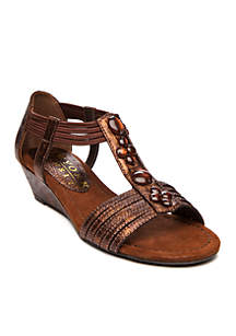 Text Me Double Strap Wedge Sandals