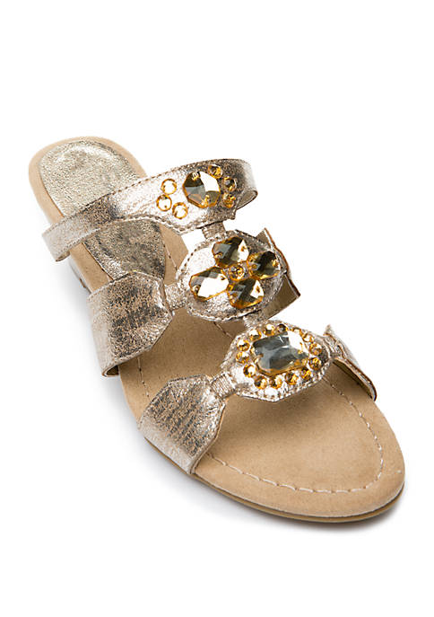 Aced the Moment Low Wedge Slide Sandals